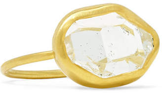 Pippa Small 18-karat Gold Herkimer Diamond Ring