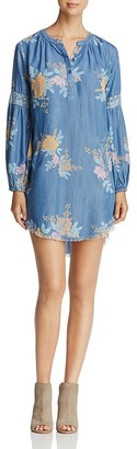 Billy T Poet Floral Print Chambray Shirt Dress $112 thestylecure.com