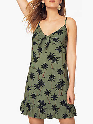 4572ba87 Oasis Palm Tree Mini Dress, Green/Multi