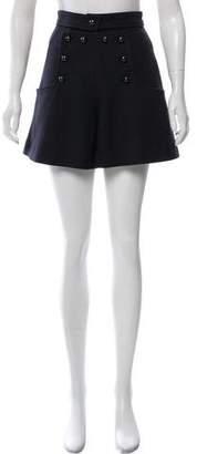 Isabel Marant High-Rise Wool-Blend Shorts