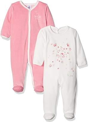 Petit Bateau Baby Girls 2P Dors Bien 9M Sleepsuit,(Size 9MOIS) Pack of 2