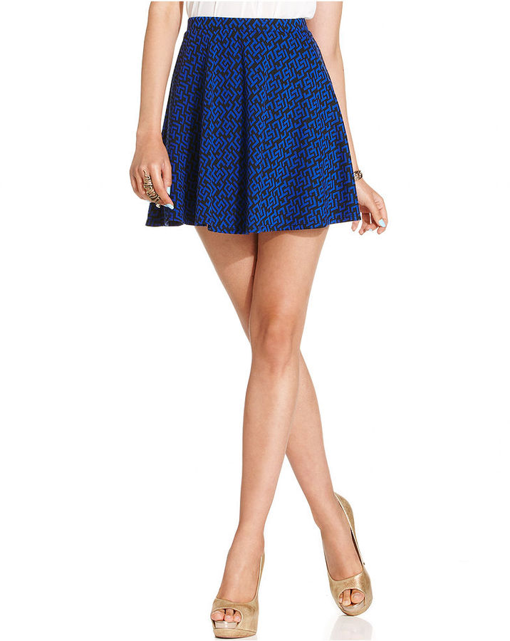 Amy Byer BCX Juniors Skirt, Printed A-Line Mini
