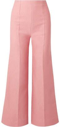Emilia Wickstead Hullinie Cloqué Wide-leg Pants