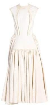 Marni Cap Sleeve Ruched Skirt Maxi Dress