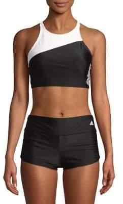adidas Colorblock High Neck Bikini Top