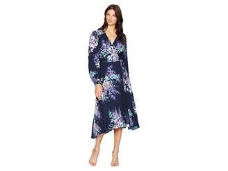 Hale Bob Primal Petals Rayon Snake Jacquard Yael Dress