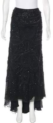 Naeem Khan Embellished Silk Skirt