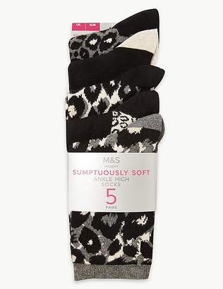 Marks and Spencer 5 Pair Pack Ankle High Socks