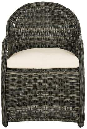 Safavieh Newton Wicker Arm Chair, Gray