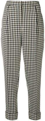Odeeh checked tapered trousers