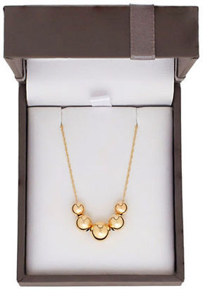 Lord & Taylor 14K Yellow Gold Ball Pendant Necklace $79.95 thestylecure.com
