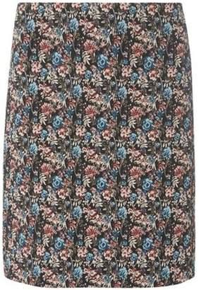 Dorothy Perkins Womens **Tall Multi Coloured Floral Print Jacquard Mini Skirt