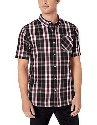 Lrg Men's Lifted Research Group Short Sleeve Woven Button Up Shirt