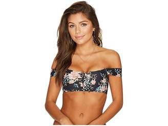 Billabong Let It Bloom Lace-Up Bikini Top Women's Swimwear