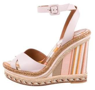 Valentino Crossover Wedge Sandals