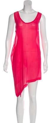 Ann Demeulemeester Asymmetrical Silk Dress w/ Tags