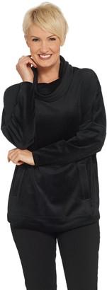 Anybody AnyBody Loungewear Velour Oversized Cowl Pullover Top