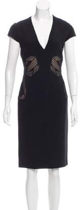 Stella McCartney Embroidered Sheath Dress w/ Tags Black Embroidered Sheath Dress w/ Tags