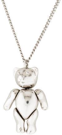 Christian Dior Christian Dior Teddy Bear Pendant Necklace