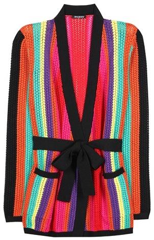 BalmainBalmain Striped Knitted Cardigan