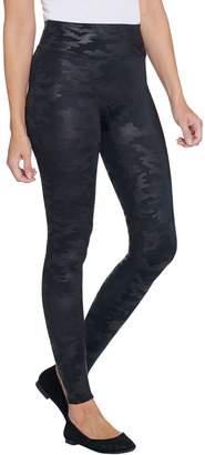 Spanx Faux Leather Matte Black Camo Leggings