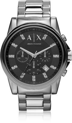 Armani Exchange Outerbanks Black Dial with Crystals Men's Watch