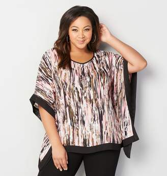 Avenue Abstract Stripe Poncho