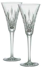 Waterford Lismore Crystal Toasting Flute/Set of 2