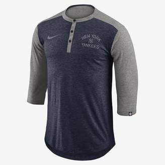 Nike Dri-FIT Henley (MLB Yankees) Men's 3/4 Sleeve Top