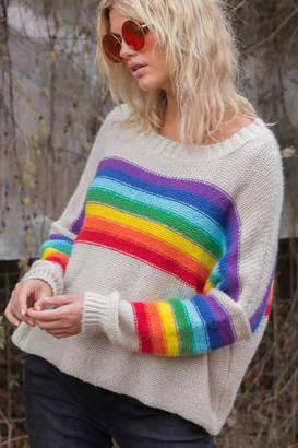 Wooden Ships Rainbow Crew Sweater