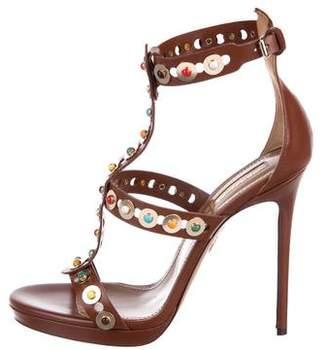 Aquazzura Embellished Leather Sandals