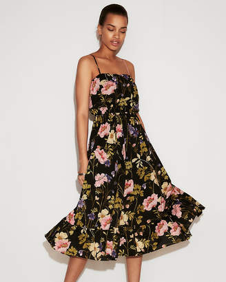 Express Petite Floral Empire Waist Midi Dress