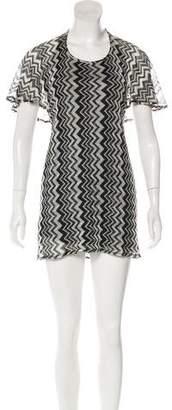 Anna Sui Patterned Mini Dress