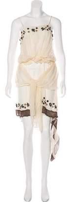 Marni Layered SIlk Midi Dress