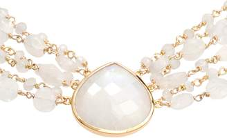 Melania ela rae Semiprecious Stone Collar Necklace