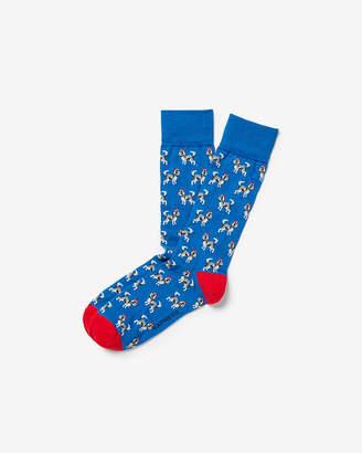 Express Santa Hat Dog Dress Socks