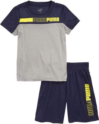 Puma Interlock Performance T-Shirt & Shorts Set