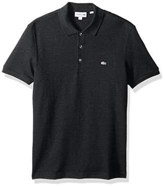 Lacoste Men's Short Sleeve Stretch Grey Croc Pique Polo