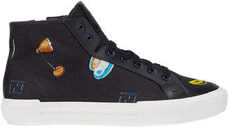 Fendi patch print hi tops