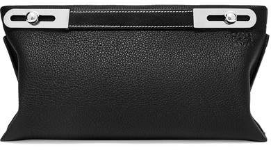 Loewe Missy Small Textured-leather Shoulder Bag - Black