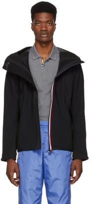 Moncler Black Plair Technique Wind Stopper Zip-Up Jacket