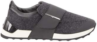 Alberto Guardiani Anthracite Tweed Flats