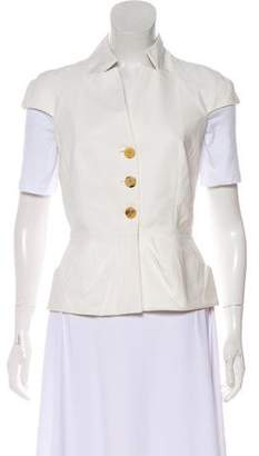 Christian Dior Pointed Collared Button-Up Vest