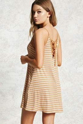 Forever 21 Lace-Up Ribbed Cami Dress