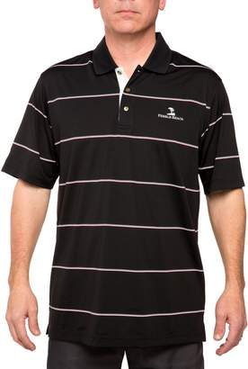 Equipment Men's Pebble Beach Classic-Fit Engineer-Striped Performance Golf Polo