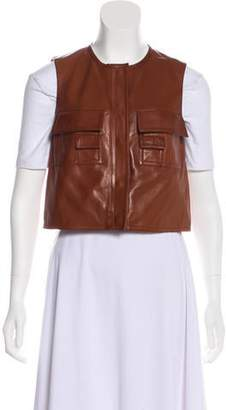 Giambattista Valli Leather Cropped Vest