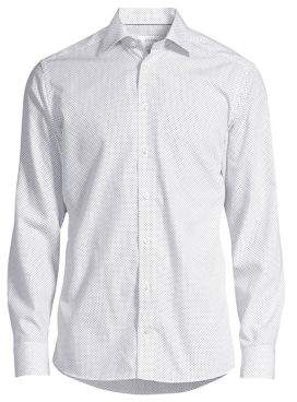 Eton Slim-Fit Dot Dress Shirt