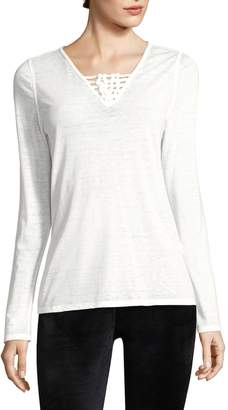 Nanette Lepore Women's Caged V-Neck Tee