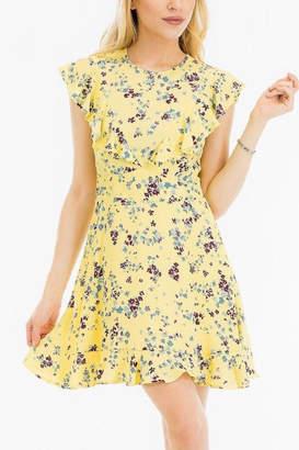 Olivaceous Short Spring Dress