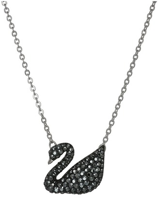 Swarovski - Iconic Swan Pendant Necklace Necklace $89 thestylecure.com